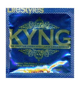 Lifestyle's KYNG Blue Condom