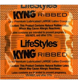 Lifestyle's KYNG Ribbed Condom