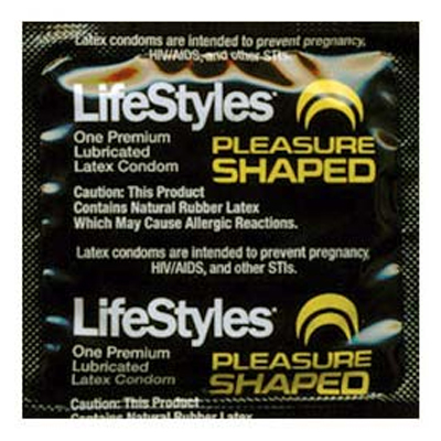 Lifestyles Pleasure Shaped Condom