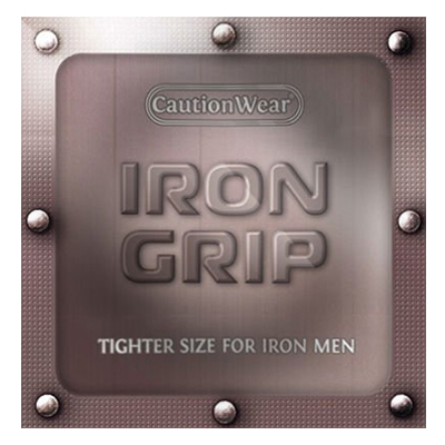 Caution Wear Iron Grip Condom